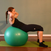 Exercise Ball Straight Crunch Technique