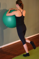 Exercise Ball Wall Calf Raises Technique